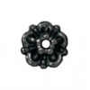 Bead Cap Tiffany 5mm Black